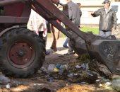 رئيس مدينة المحلة يشن حملات النظافة اليومية داخل القرى