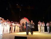 """صور.. فرقة بورسعيد للفنون تقدم """"الكوبانية"""" فى احتفالات المحافظة بعيد النصر"""