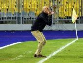 """صور.. جماهير المصرى تدعم حسام حسن بـ""""الإشارة"""" بعد قرار إيقافه"""