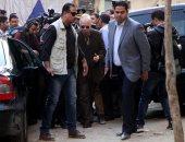 محافظ القاهرة يتفقد موقع الحادث الإرهابى بكنيسة مار مينا بحلوان