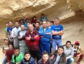 """صور.. جوالة """"فتيان الكشافة"""" تخترق كهوف جبل طور سيناء"""