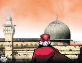 حصار إسرائيل يحرم أطفال القدس من هدايا بابا نويل.. بكاريكاتير اليوم السابع