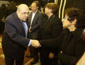 مصطفى الفقى وفريدة الشوباشى وجابر نصار يشاركون فى عزاء صلاح عيسى (صور)