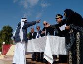 صور.. محافظ جنوب سيناء يشهد توزيع 200 ألف جنيه مساعدات لمتضررى السياحة