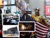 صور.. العالم هذا الصباح.. الأمريكيون يتحدون موجة صقيع ثلجية ويحتفلون بالكريسماس.. استمرار حالة الكر والفر بين الشرطة الإيرانية ومحتجين وسط تصاعد العنف.. والأمن الأوكرانى ينجح فى تحرر 11 رهينة داخل مكتب بريد