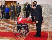رئيسة البارالمبية: تكريم الرئيس السيسى بشرة خير للعام الجديد (صور)