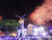 شاهد مظاهر الاحتفال بالعام الجديد فى مدن العالم.. صور