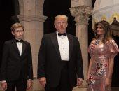 """صور.. ترامب وأسرته يحتفلون برأس السنة فى منتجع """"مار لاجو"""" بولاية فلوريدا"""