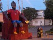 فيديو.. جماهير الأرجنتين تحرق تمثال فيدال فى احتفالات الكريسماس