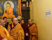 """""""الدالاى لاما"""" يزور معبد بوذى ضمن مواقع التراث العالمى لليونسكو فى الهند"""