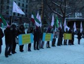 """صور.. الجالية الإيرانية فى كندا تنظم مظاهرة دعما لـ""""ثورة الفقراء"""""""