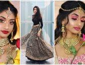 أميرات ديزنى بالهندى.. موديل هندية تجسد شخصيات الكارتون على طريقتها