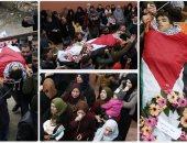 بالورود تشييع جثمان مصعب التميمى بعد استشهاده برصاص الاحتلال