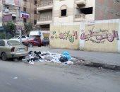 شكوى من تراكم القمامة أمام مدرسة سنان الابتدائية فى الزيتون.. صور