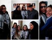 نور التميمى تصل منزلها عقب إفراج الاحتلال الإسرائيلى عنها بكفالة