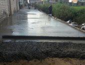 الانتهاء من أعمال رصف شارع دائر الناحية فى كفر شحاتة بدمياط