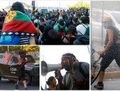 اشتباكات بين شرطة تشيلى ومحتجين خلال إحياء ذكرى مقتل ناشط