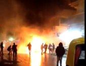 حريق يلتهم توك توك بسبب ماس كهربي بالشارع فى المحلة