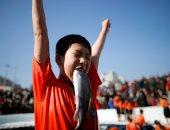 صور.. مليون شخص يصطادون 170 طنا من السلمون خلال مهرجان صيد بكوريا الجنوبية