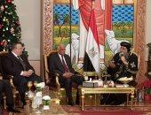 """نواب مصر فى """"بيت المسيح"""".. على عبدالعال ورموز البرلمان يهنئون البابا (صور)"""