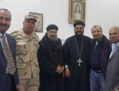 صور.. رئيس مدينة القنطرة بالإسماعيلية والأهالى يقدمون التهنئة للأقباط