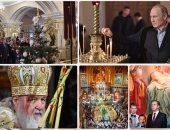 الرئيس الروسى يحضر احتفالات عيد الميلاد فى كنيسة القديسين