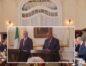 شكرى يبحث مع نظيره الايرلندي تطورات الأوضاع على الصعيد الفلسطيني وعملية السلام