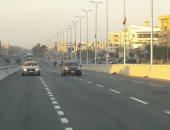 بدء التشغيل التجريبى لمحور محمد نجيب بعد تطويره بمدينة القاهرة الجديدة