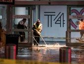 صور.. توقف الرحلات الجوية فى مطار جون كنيدى بنيويورك بعد كسر خط مياه