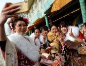 """جميلات اليابان يحتفلن بيوم """"بلوغ سن الرشد"""" فى طوكيو"""