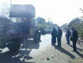رفع 70 طن قمامة  ونواتج تطهير ترع خلال حملة بقرية بهواش في المنوفية
