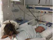 إيمان البحر درويش يبدأ جلسات العلاج الطبيعى داخل أحد المستشفيات
