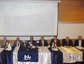 بدء المؤتمر الصحفى لجامعة النيل الأهلية بحضور عمرو موسى - صور