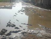صور.. مياه الصرف الصحى تغرق شوارع منطقة حوض الداير فى الغربية