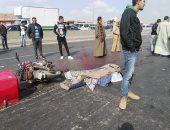 مصرع طفل وإصابة والدته إثر حادث تصادم بطريق القاهرة الإسكندرية الزراعى