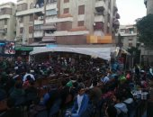 جماهير المصرى تحتشد على المقاهى لمشاهدة مباراة السوبر