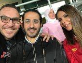 صور.. نجوم الفن يحتفلون بفوز الأهلى بالسوبر فى مدرجات استاد هزاع بن زايد