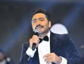 بالصور.. تامر حسنى وميريام فارس يتألقان فى حفل غنائى بالقاهرة الجديدة