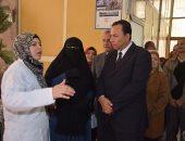 رئيس جامعة المنوفية فى زيارة للمجمع الطبى بالكليات النظرية