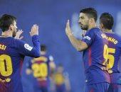 سواريز يحقق 3 أرقام قياسية فى مباراة برشلونة وفالنسيا.. فيديو