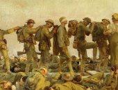 شاهد.. جنود يصابون بالعمى فى الحرب العالمية الأولى بـ لوحة عالمية