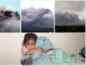 بركان مايون بالفلبين يطلق حممه البركانية ورعب بين سكان المنطقة