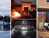 صور.. العالم هذا المساء.. متطرف يطعن 7 حراس بأحد سجون فرنسا.. إصابة 43 شخصا فى اصطدام حافلة تلاميذ ببناء سكنى بألمانيا.. حريق بمبنى أثرى بإندونيسيا.. وإنقاذ عشرات المهاجرين غير الشرعيين قرابة ليبيا