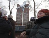 صور.. احياء الذكرى الأولى لضحايا تحطم طائرة تركية فى قيرغيزستان