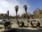 """صور.. """"مقاهى تتحدى الدمار"""" فى مدينة الرقة السورية"""