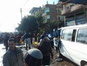 إصابة 6 أشخاص فى حادث تصادم دراجة نارية وميكروباص بدمياط