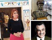 نضال الناطور تسجل حلقة خاصة عن متحف جمال عبد الناصر بالقرية الفرعونية