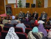 رئيس جامعة المنوفية يلتقى بالعاملين من ذوى الاحتياجات الخاصة