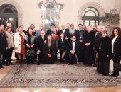 سفير مصر في إيطاليا يلتقى أسقف تورينو وروما بمقر السفارة