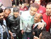 سعد سمير يحضر زفاف ابنة عم حارس
